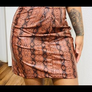 Super Stretch Vinyl Snake Mini Skirt